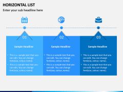 Horizontal List Infographics PPT Slide 5