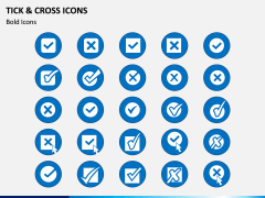 Tick and Cross Icons PPT Slide 3
