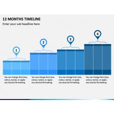 12 Months Timeline PPT Slide 1