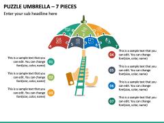 Puzzle Umbrella - 7 Pieces PPT Slide 2