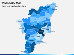 Tamilnadu Map PPT Slide 1