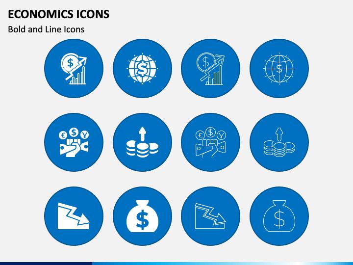 Economics Icons PPT Slide 1