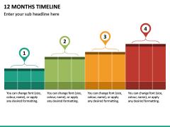 12 Months Timeline PPT Slide 2