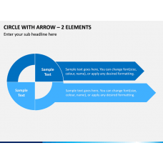 Circle with Arrow – 2 Elements PPT Slide 1