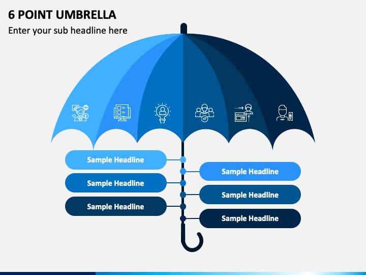 6 Point Umbrella PPT Slide 1
