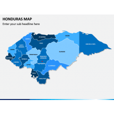 Honduras Map PPT Slide 1