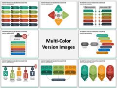 Marketing Goals Multicolor Combined