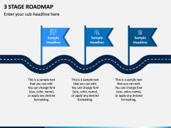 3 Stage Roadmap PPT Slide 1