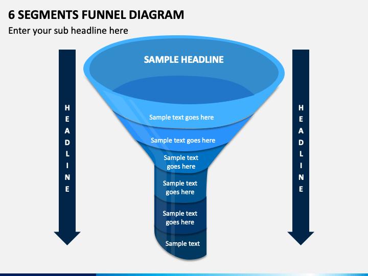 6 Segments Funnel Diagram Slide 1