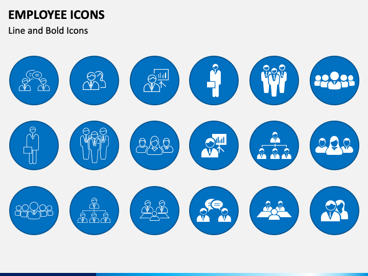 Employee Icons PPT Slide 1