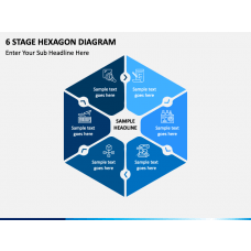 6 stage hexagon free PPT slide 1
