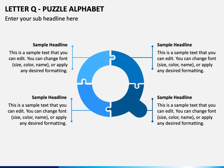 Letter Q - Puzzle Alphabet PPT Slide 1