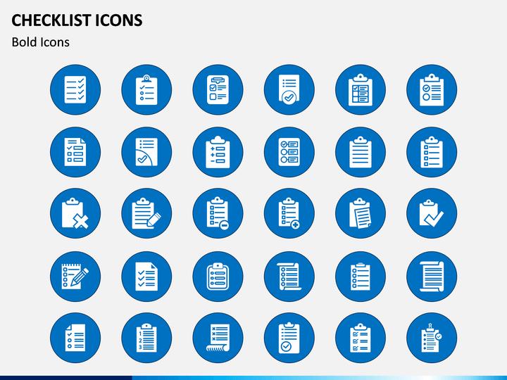 Checklist Icons PPT Slide 1