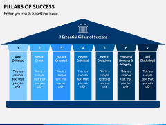 Pillars of Success PPT Slide 1