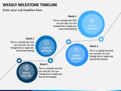 Weekly Milestone Timeline PPT Slide 2