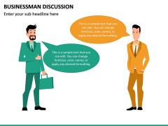Businessman Discussion PPT Slide 3