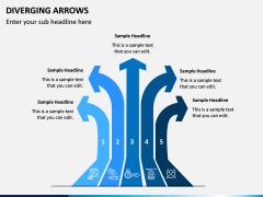 Diverging Arrows PPT Slide 11