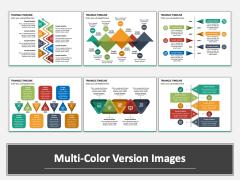 Triangle Timeline Multicolor Combined