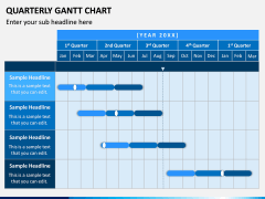 Quarterly Gantt Chart PPT Slide 3