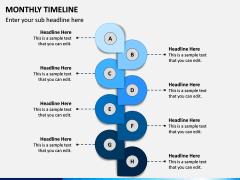 Monthly Timeline PPT Slide 3