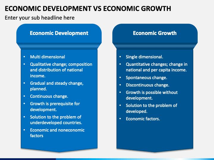 Economic Development Vs Economic Growth PPT Slide 1