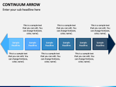 Continuum Arrow PPT Slide 2