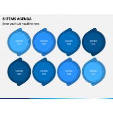 8 Items Agenda PPT Slide 1