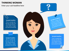 Thinking Woman PPT Slide 3