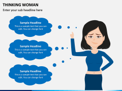 Thinking Woman PPT Slide 7
