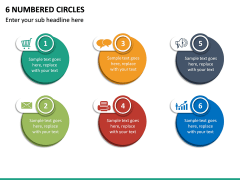 6 Numbered Circles PPT Slide 2