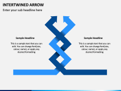 Interwined Arrow PPT Slide 4