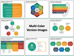 Communication Barriers PPT Slide Multicolor Combined