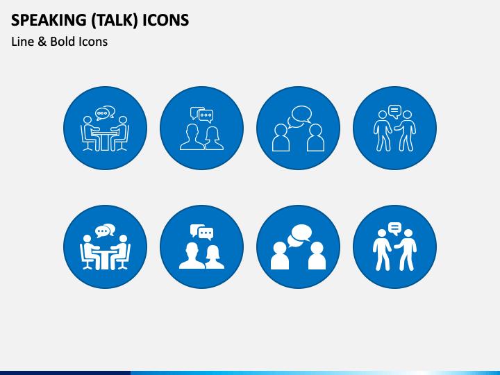 Speaking Icons PPT Slide 1
