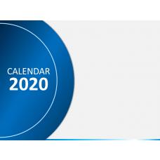 Calendar 2020 - Type 3 PPT Slide 1