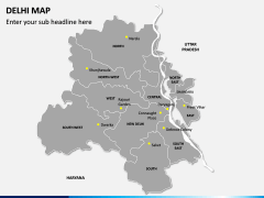 Delhi Map PPT Slide 2