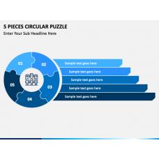 5 Pieces Circular Puzzle Free Slide 1