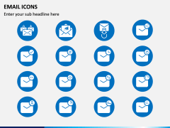 Email Icons PPT Slide 2