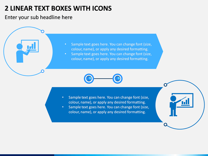2 Linear Text Boxes With Icons PPT Slide 1