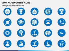 Goal Achievement Icons PPT Slide 1