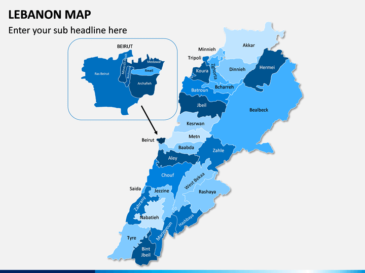 Lebanon Map PPT Slide 1