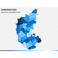 Karnataka Map PPT Slide 1