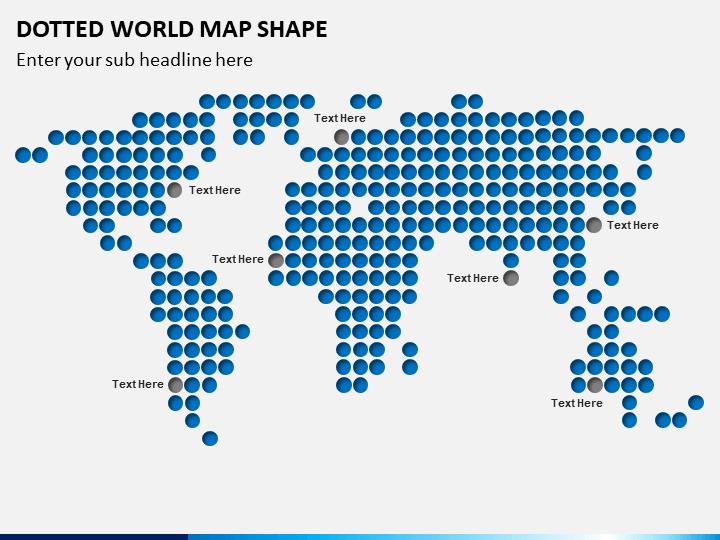 Dotted World Map PPT Slide 1