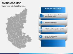 Karnataka Map PPT Slide 3