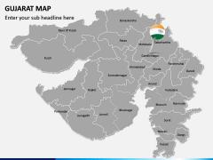Gujarat Map PPT Slide 2