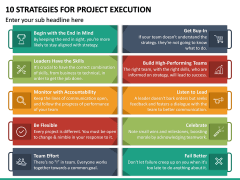 10 Strategies for Project Execution PPT Slide 2