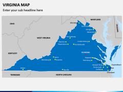 Virginia Map PPT Slide 2