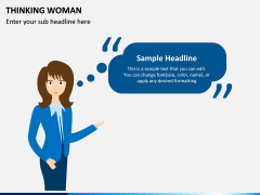 Thinking Woman PPT Slide 2