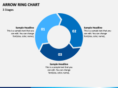 Arrow Ring Chart PPT Slide 1