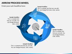 Arrow Process Wheel PPT Slide 6