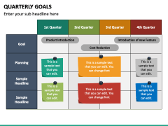 Quarterly Goals PPT Slide 4